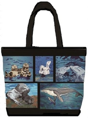 Ocean animals tote bag