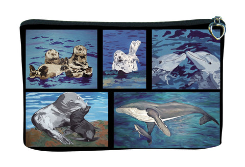 ocean animals cosmetic bag