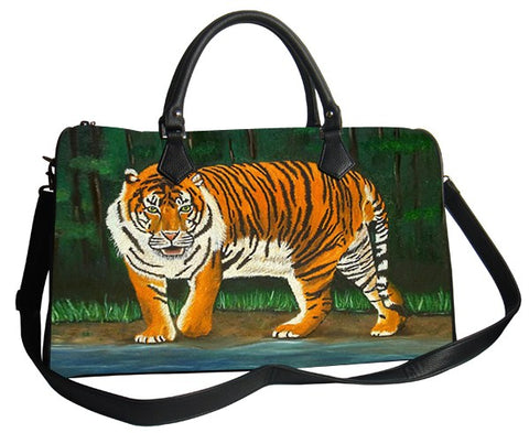tiger vegan leather bag