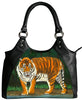 Bengal tiger vegan leather shoulder bag
