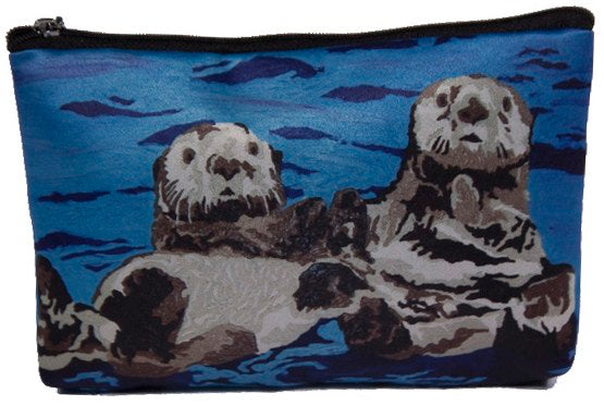 sea otter cosmetic bag