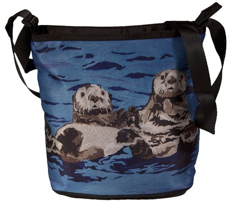Sea otter large cross body bag