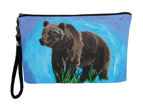 grizzly bear wristlet