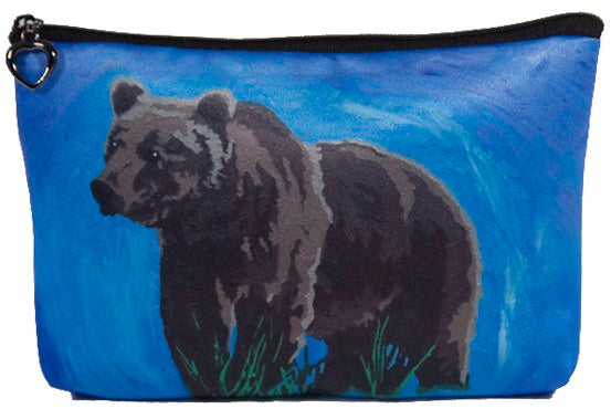 grizzly bear cosmetic bag