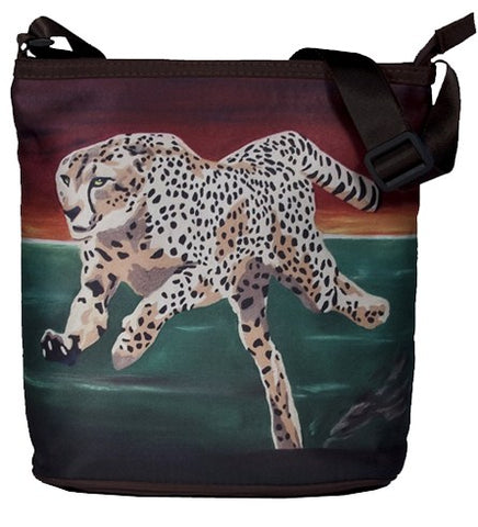 save the cheetah cross body  bag
