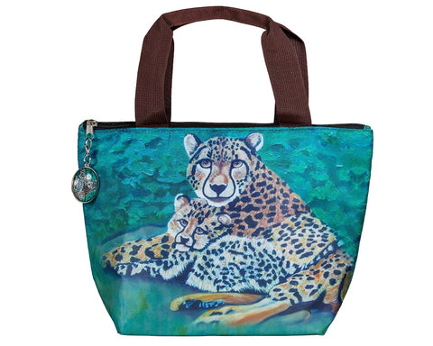 cheetah lunch tote
