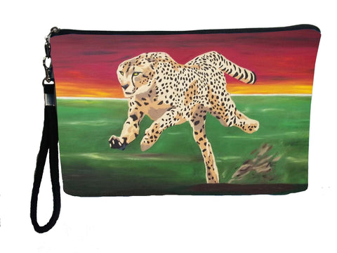running cheetah wristlet
