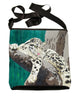 clouded leopard large cross body bag