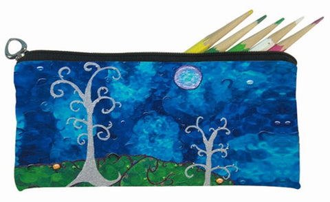 whimsical trees soft eye glasses case