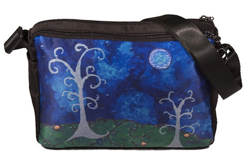 whimsical trees messenger bag