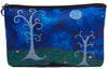 whimsical trees make-up bag