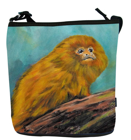 Golden Lion Tamarin Kitten Cross Body Bag - Mutualistic
