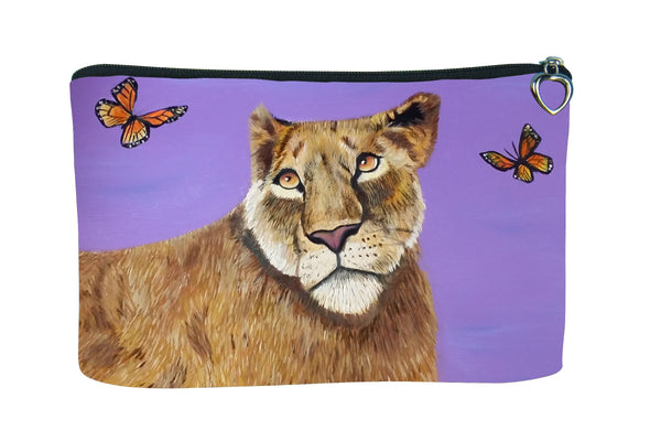 lioness monach butterfly cosmetic bag