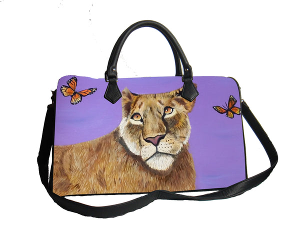 lioness vegan leather handbag