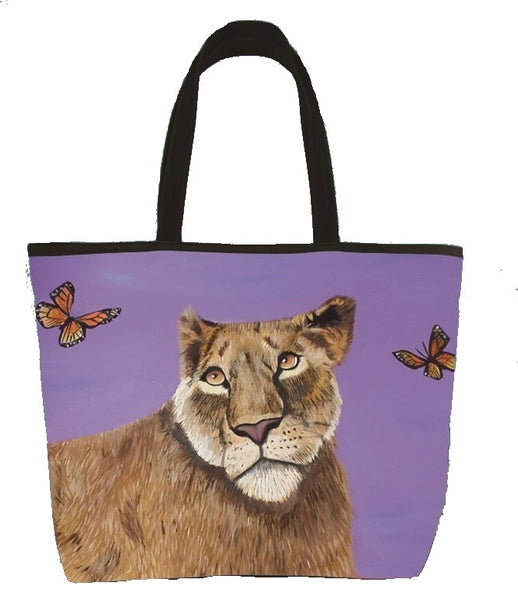 lioness shoulder bag