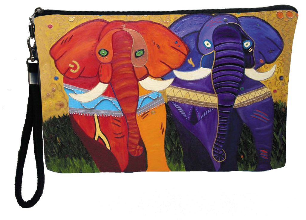 colorful african elephant wristlet