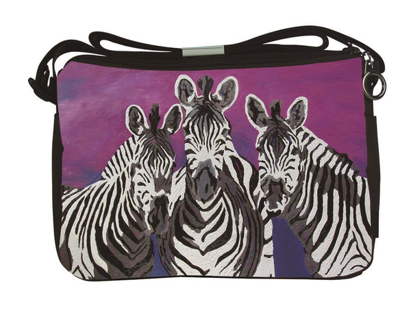 zebra messenger bag