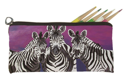 zebra pencil bag