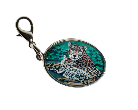 cheetah bag charm