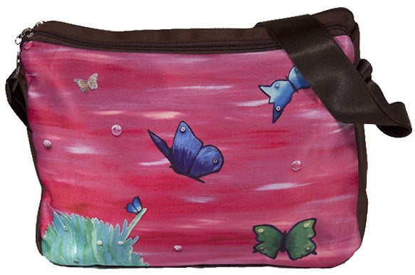 butterflies messenger bag