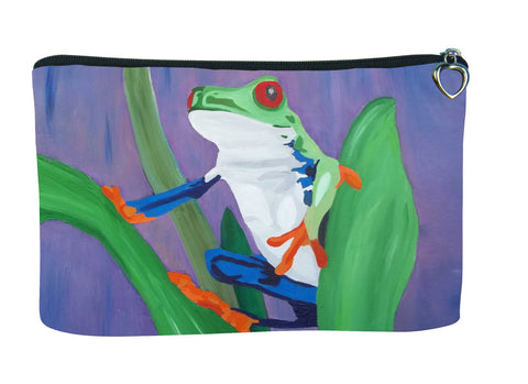 frog make-up bag