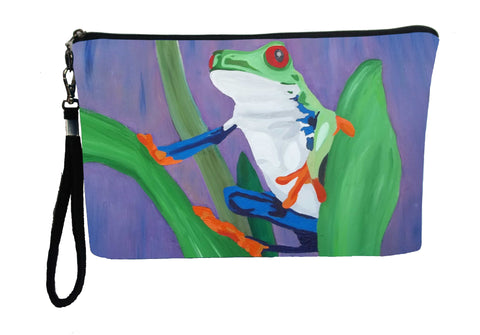 costa rican red eyed tree frog wristlet
