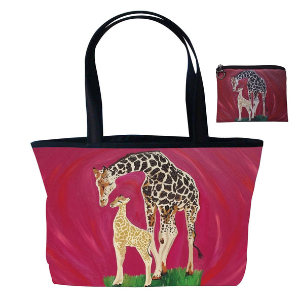 giraffe bag and matching coin purse