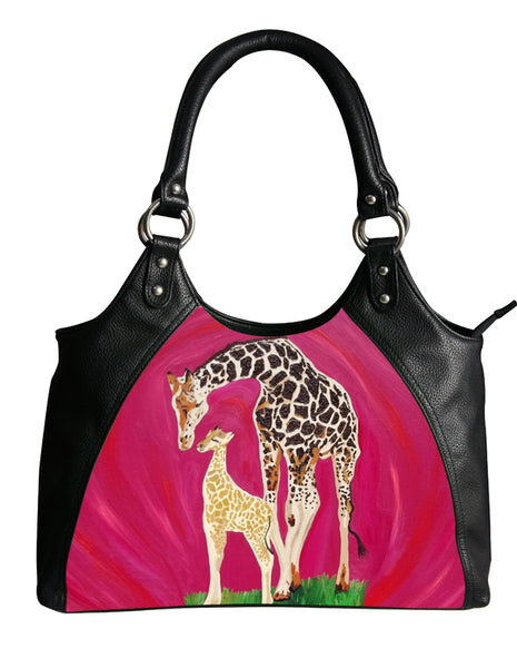giraffe vegan leather bag