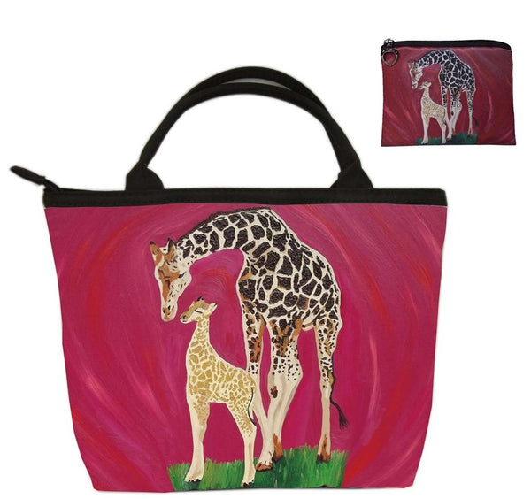 giraffe purse and matching coin purse