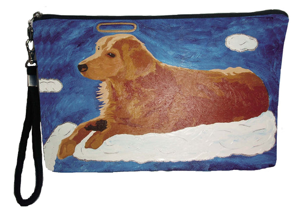 Golden retriever dog wristlet