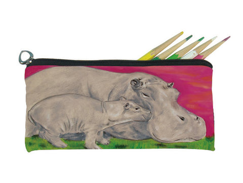 hippo pencil bag