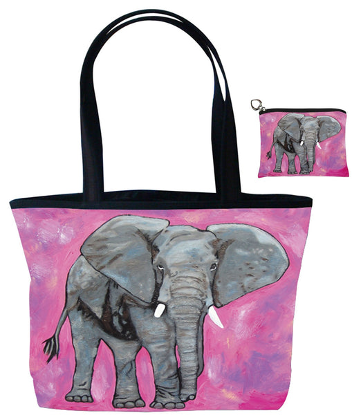 elephant tote bag set