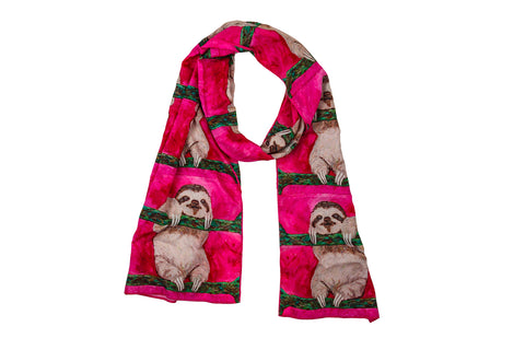 Sloth Viscose Scarf- Leisurely Life