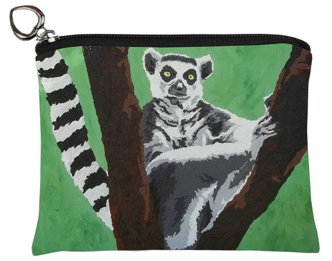 Ring-tailed lemur coin purse