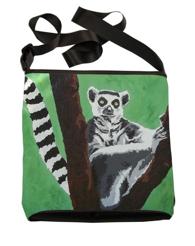 Ring-tailed lemur  cross body bag