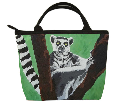 Ring-tailed lemur purse