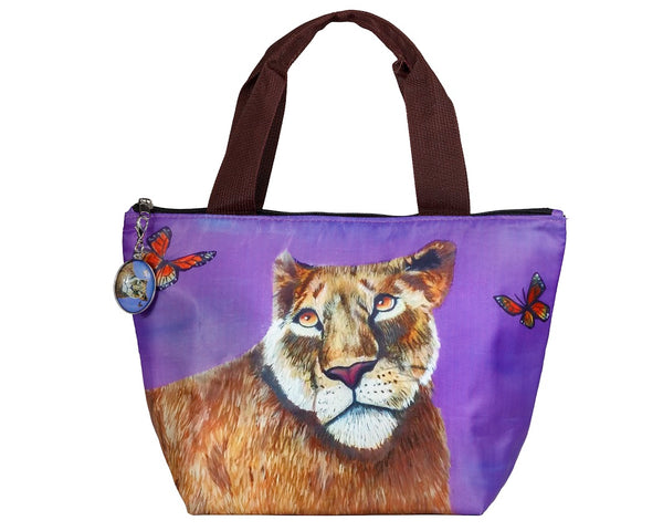 lioness lion lunch bag