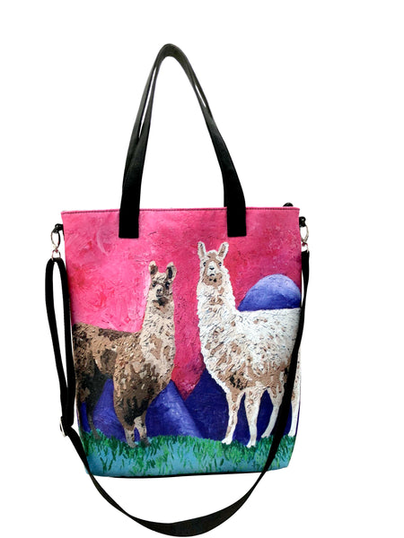 Llama Canvas Shoulder Bag - Andeans