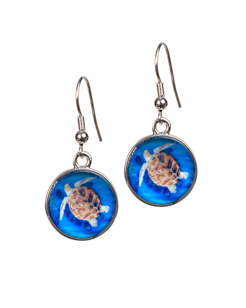 Loggerhead Sea Turtle Earrings- The Pilgrim
