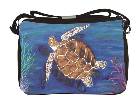 loggerhead sea turtle messenger bag