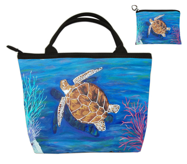 loggerhead sea turtle mathcing bag set