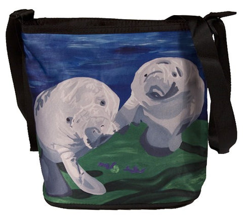 manatee large cross body bag