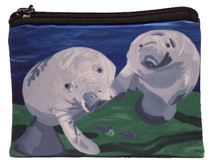manatee coin purse