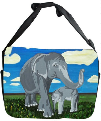 Elephant Canvas Safari Style Messenger Bag - Gentle Giants