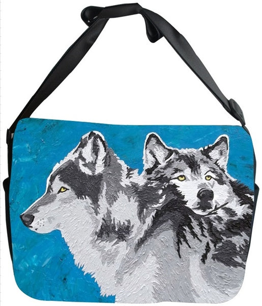 Wolf Canvas Safari Style Messenger Bag - Spirited Pack