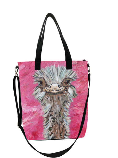 Ostrich Canvas Shoulder Bag - Santosh