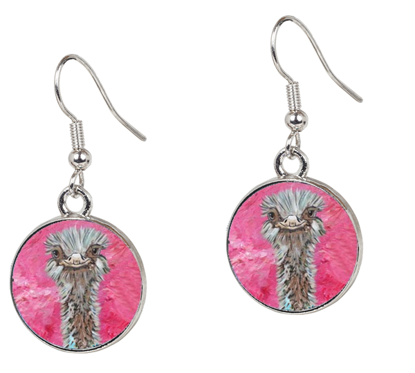 Ostrich Earrings – Santosha