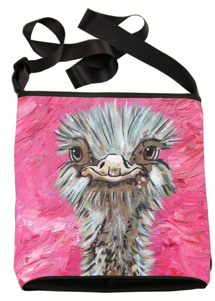 Ostrich Kitten Cross Body Bag  - Santosha