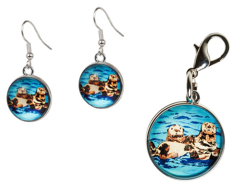 sea otters Jewelry Set