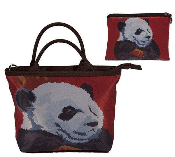 panda purse and matching wallet